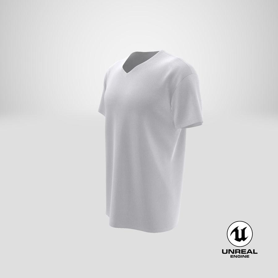 T-shirt męski, opadające ramię, kołnierz V z krótkim rękawem (1) royalty-free 3d model - Preview no. 26