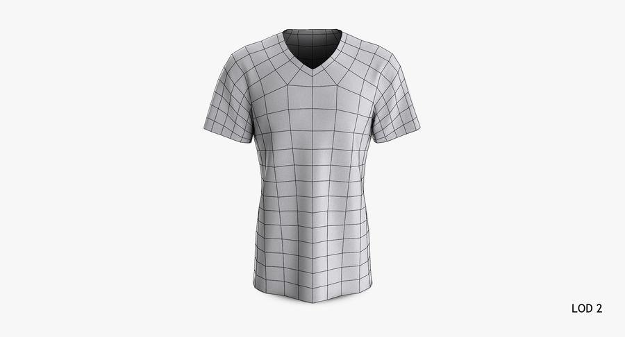 T-shirt męski, opadające ramię, kołnierz V z krótkim rękawem (1) royalty-free 3d model - Preview no. 17
