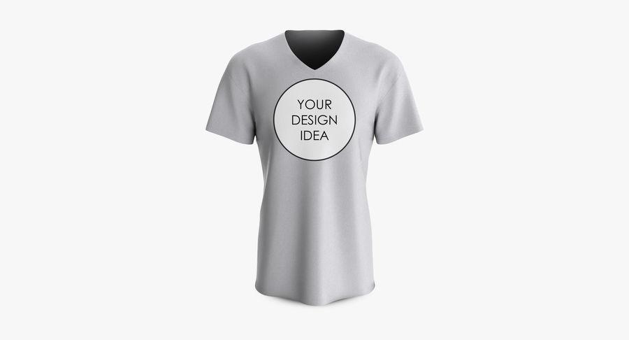T-shirt męski, opadające ramię, kołnierz V z krótkim rękawem (1) royalty-free 3d model - Preview no. 18