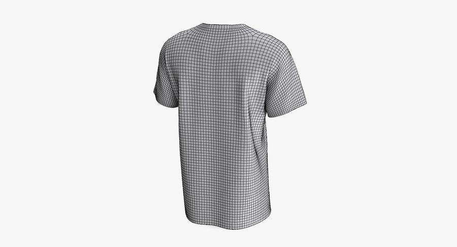 T-shirt męski, opadające ramię, kołnierz V z krótkim rękawem (1) royalty-free 3d model - Preview no. 10