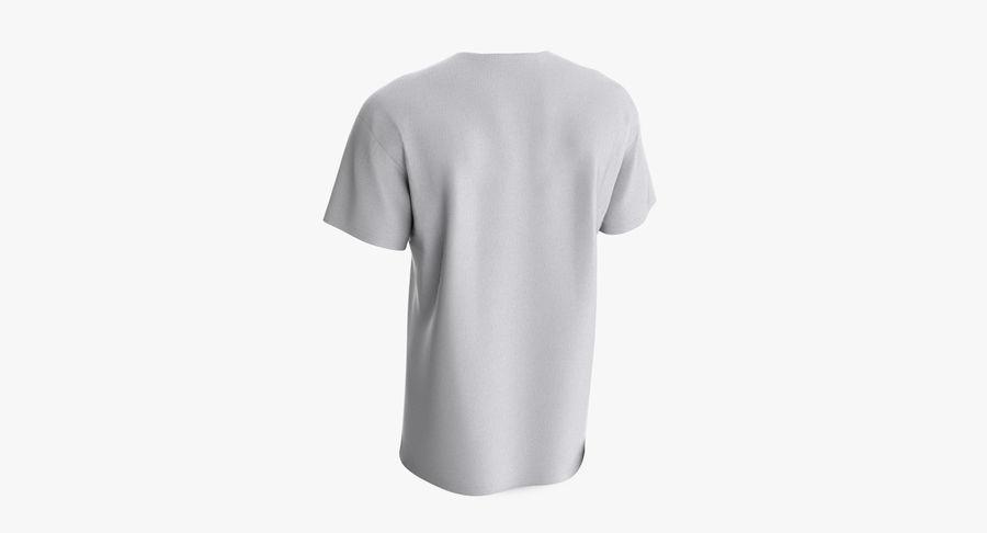 T-shirt męski, opadające ramię, kołnierz V z krótkim rękawem (1) royalty-free 3d model - Preview no. 6