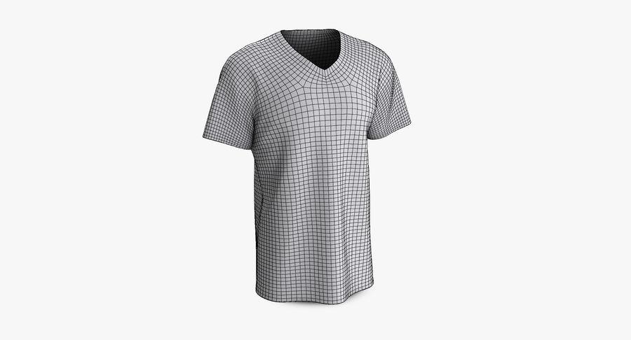 T-shirt męski, opadające ramię, kołnierz V z krótkim rękawem (1) royalty-free 3d model - Preview no. 9