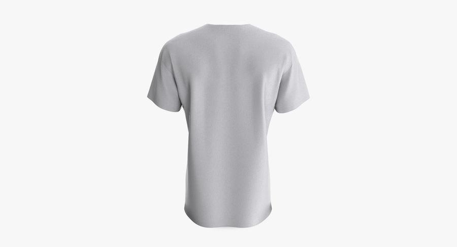 T-shirt męski, opadające ramię, kołnierz V z krótkim rękawem (1) royalty-free 3d model - Preview no. 5