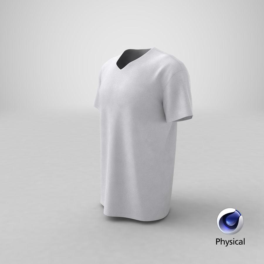 T-shirt męski, opadające ramię, kołnierz V z krótkim rękawem (1) royalty-free 3d model - Preview no. 25