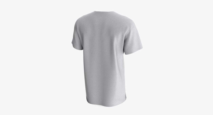 T-shirt męski, opadające ramię, kołnierz V z krótkim rękawem (1) royalty-free 3d model - Preview no. 4