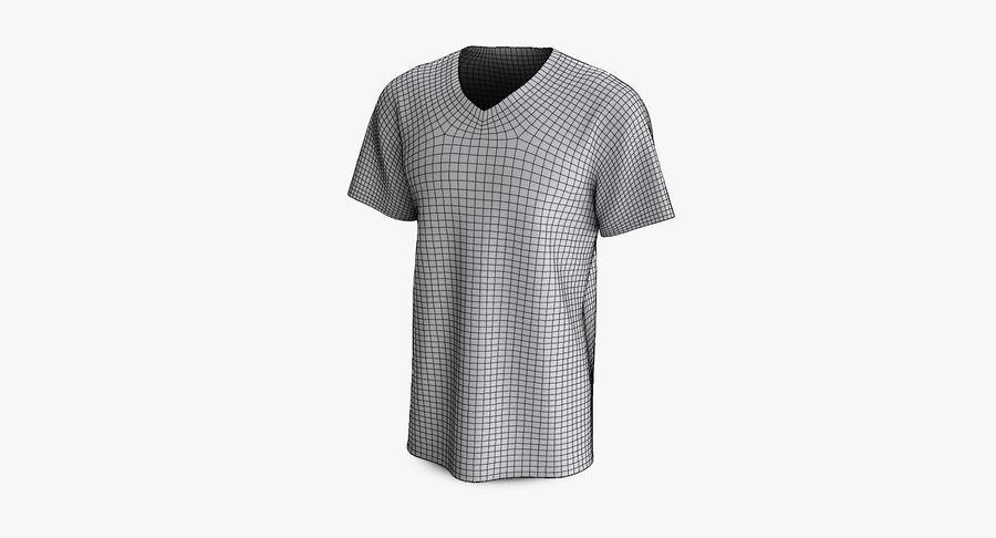 T-shirt męski, opadające ramię, kołnierz V z krótkim rękawem (1) royalty-free 3d model - Preview no. 13