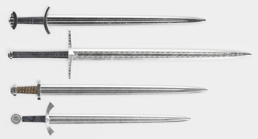 Espadas Vikingas royalty-free modelo 3d - Preview no. 3