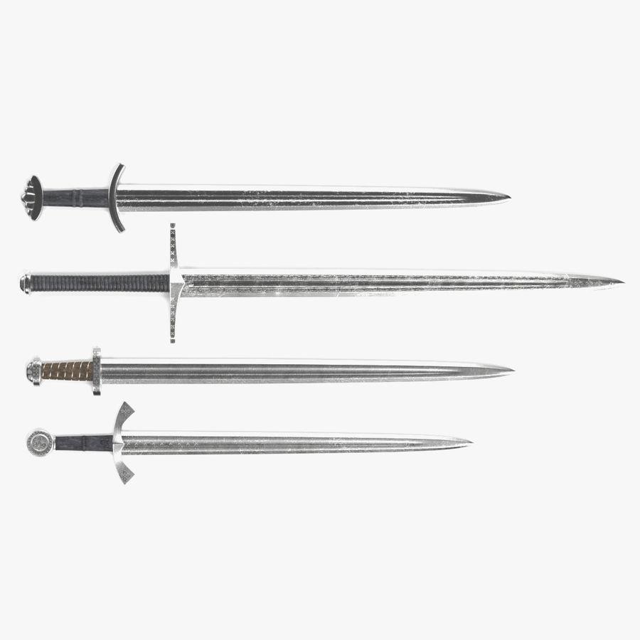 Espadas Vikingas royalty-free modelo 3d - Preview no. 1