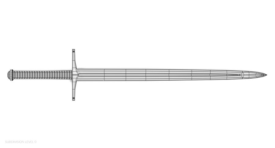 Espadas Vikingas royalty-free modelo 3d - Preview no. 24