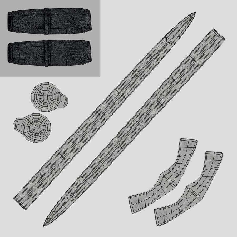 Espadas Vikingas royalty-free modelo 3d - Preview no. 17