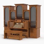 Church Pipe Organ 3d model