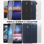 Nokia 3.1 & 2.1 Collection 3d model