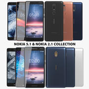 Nokia 5.1 & 2.1 Collection 3d model