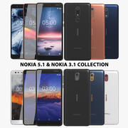 Nokia 5.1 & 3.1 Collection 3d model