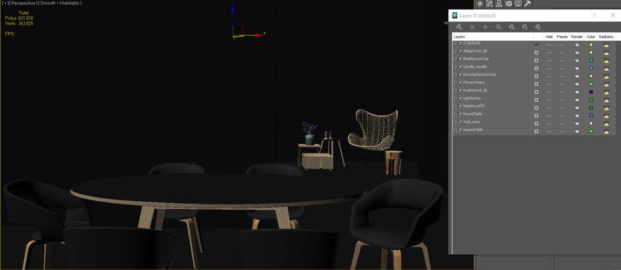 Collection de meubles royalty-free 3d model - Preview no. 36