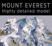 Monte Everest 3d model