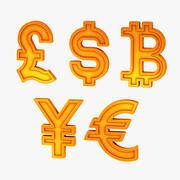 Währungssymbole 3d model