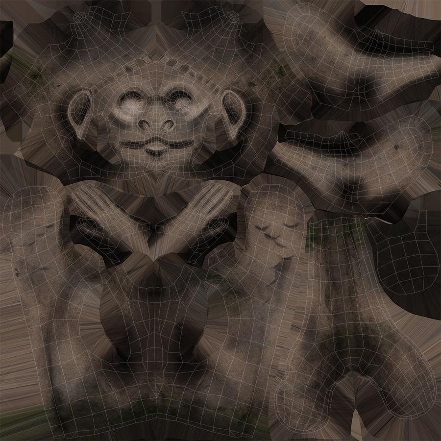Gargouille Notre Dame royalty-free 3d model - Preview no. 13