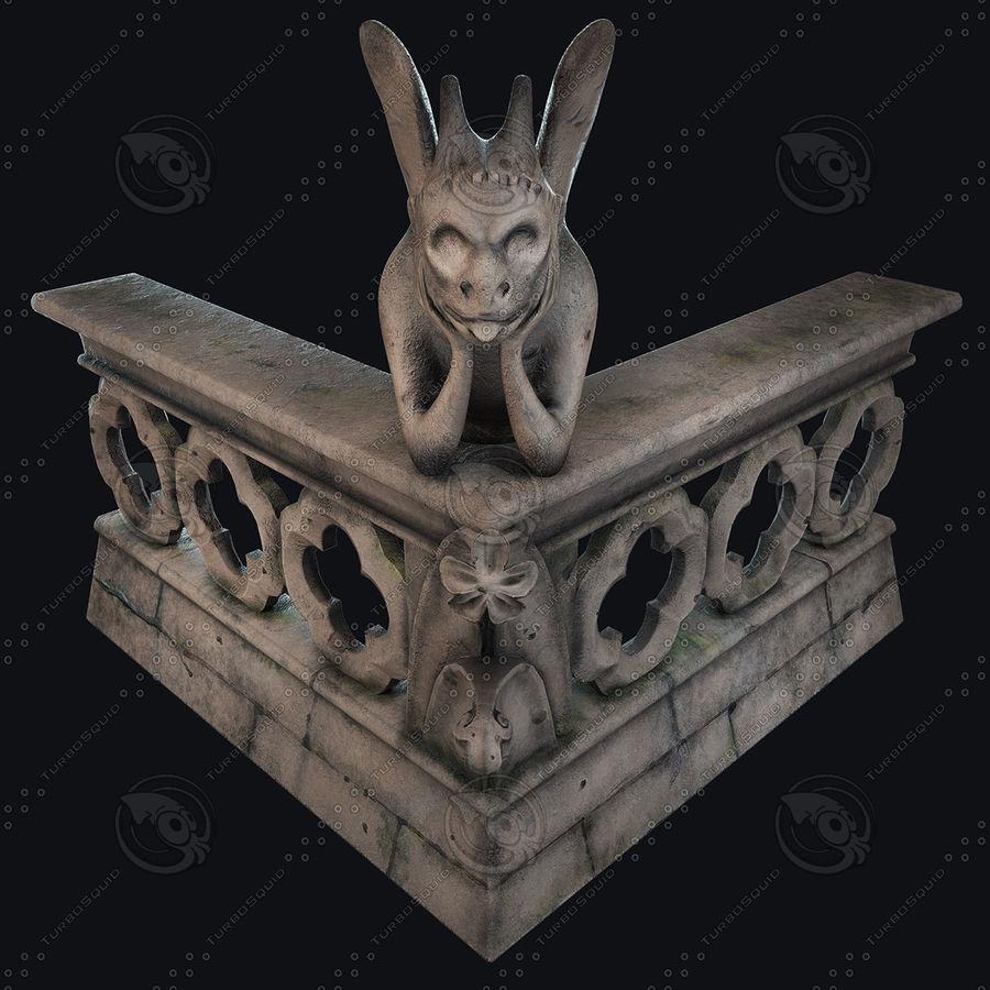 Gargouille Notre Dame royalty-free 3d model - Preview no. 2