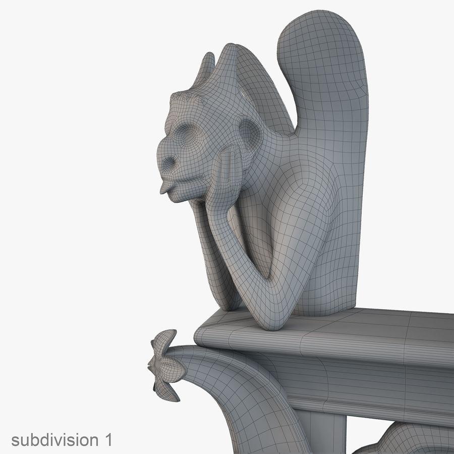 Gargouille Notre Dame royalty-free 3d model - Preview no. 12
