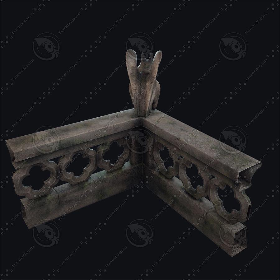 Gargouille Notre Dame royalty-free 3d model - Preview no. 8