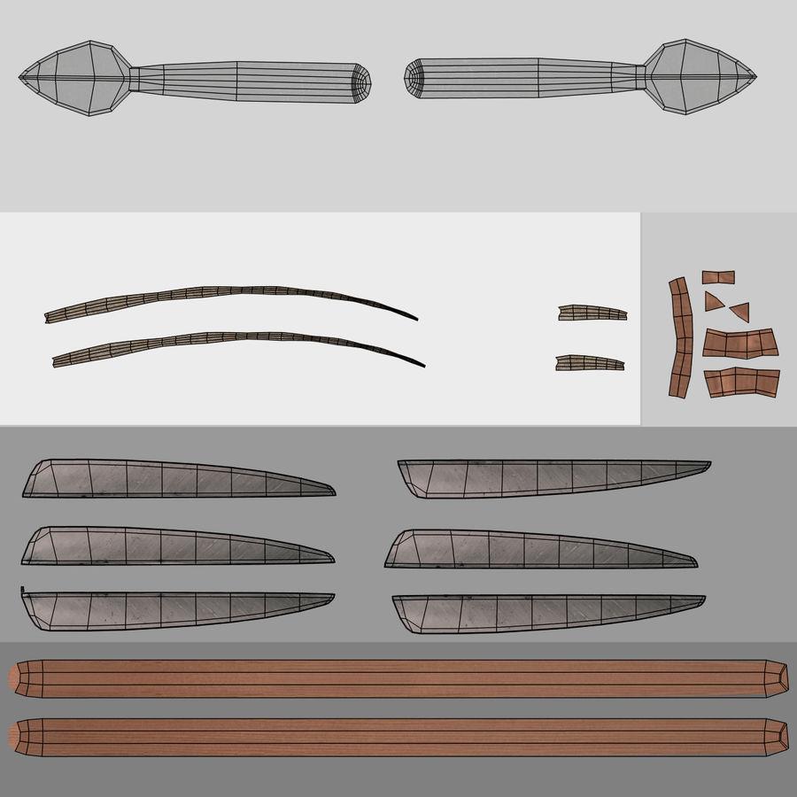 Setas; flechas royalty-free 3d model - Preview no. 17