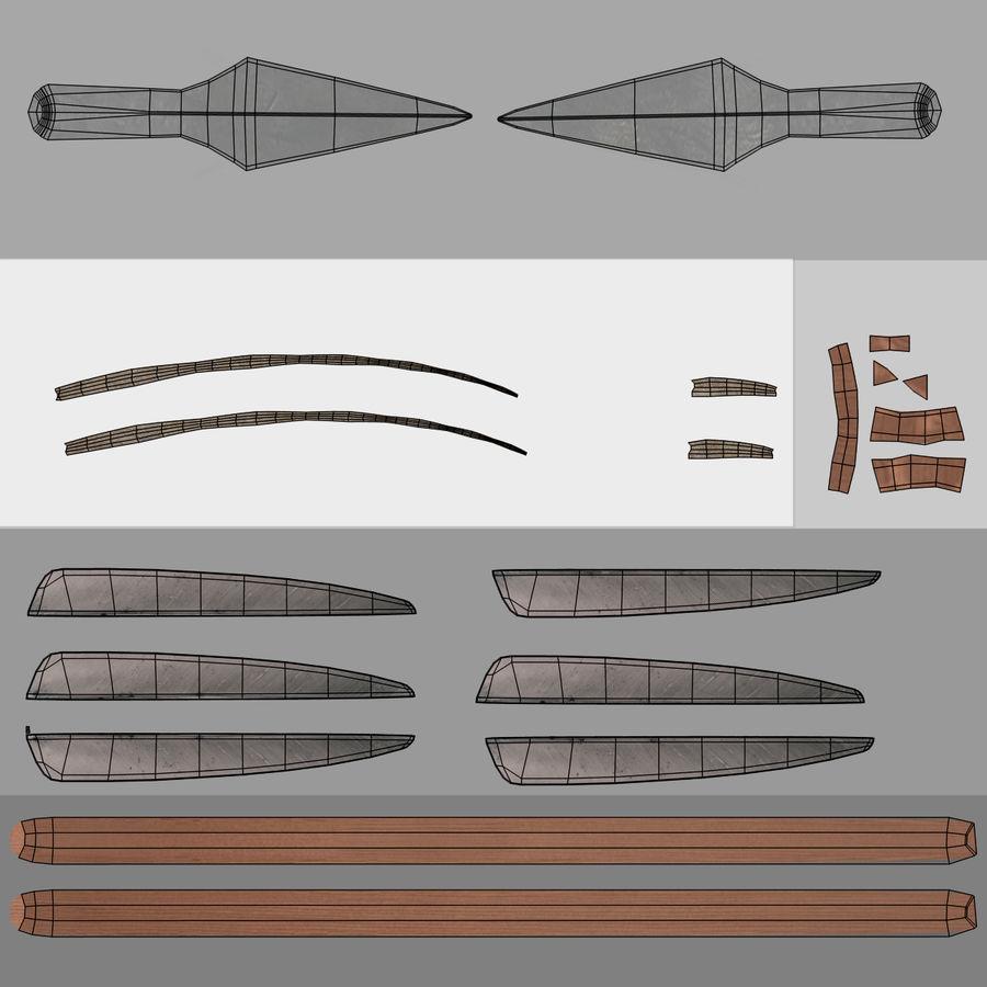 Setas; flechas royalty-free 3d model - Preview no. 16