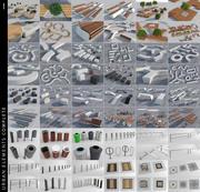城市元素完成 3d model