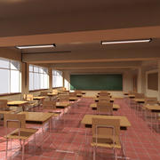 Japanese Classroom 2 3d model