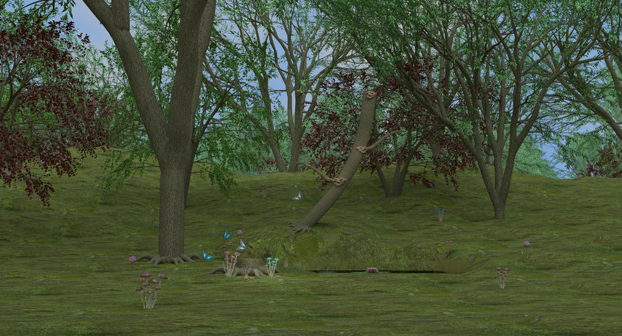 Fantasy Forest royalty-free 3d model - Preview no. 8