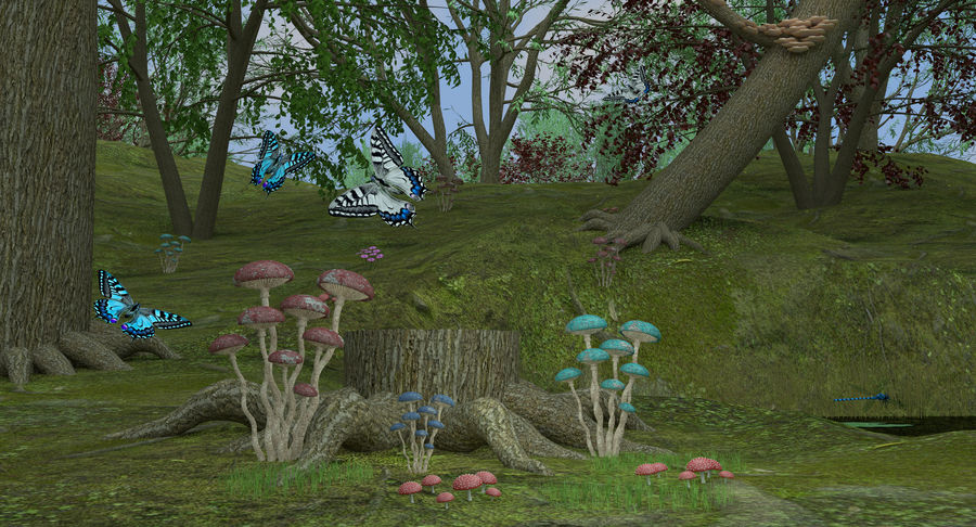 Fantasy Forest royalty-free 3d model - Preview no. 7