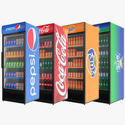 Fylld samling med kylskåp med en dörr 3d model
