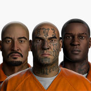 Correctional Facility Prisoners Zbrush 3d model