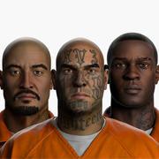 Prigionieri della struttura correttiva Zbrush 3d model