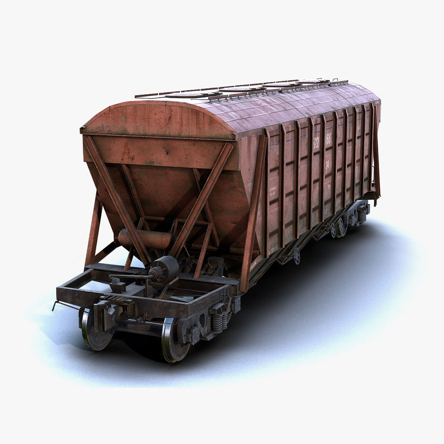 Carro Hopper LOD1 royalty-free 3d model - Preview no. 1