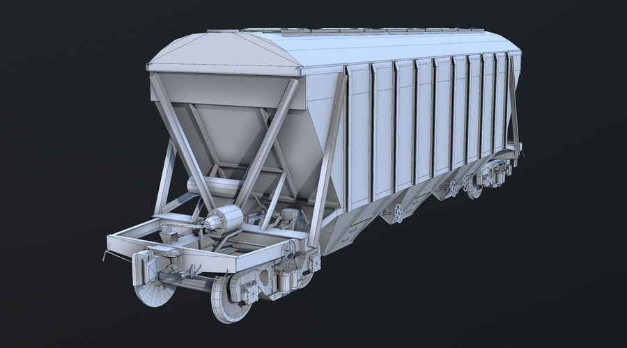 Carro Hopper LOD1 royalty-free 3d model - Preview no. 6