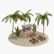 Beach Bar Scene 3d model