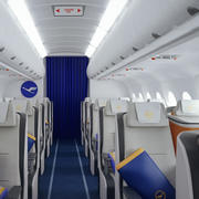 Salone di Business Class Lufthansa 3d model
