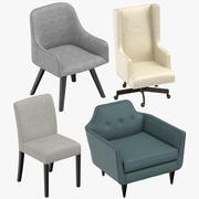 Współczesne krzesła 3d model