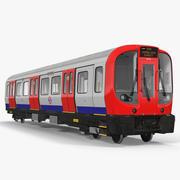 London tunnelbana tåg S8 lokomotiv 3d model