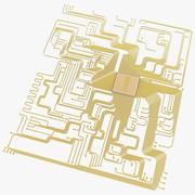 Circuito electrónico modelo 3d