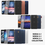 Nokia 5.1 & 3.1 & 2.1 Collection 3d model
