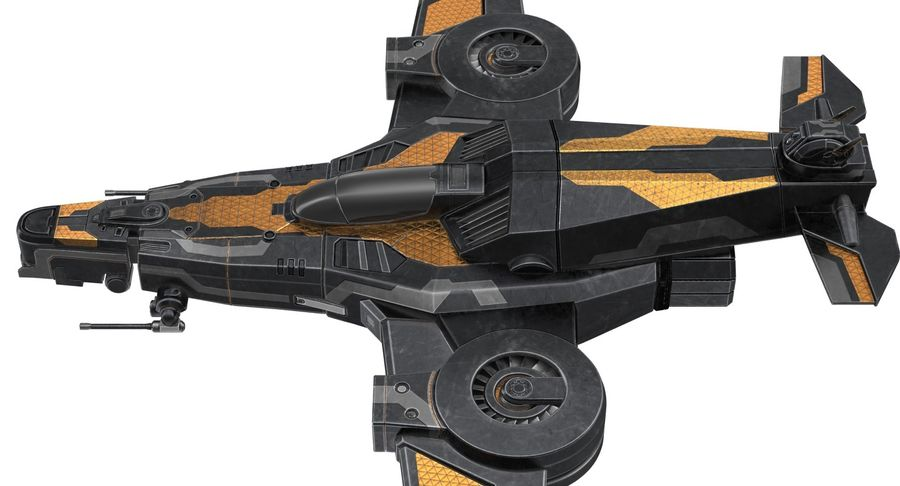 SciFi Fighter royalty-free 3d model - Preview no. 12