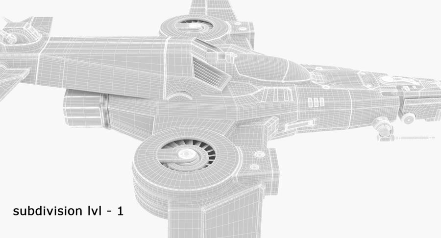 SciFi Fighter royalty-free 3d model - Preview no. 21