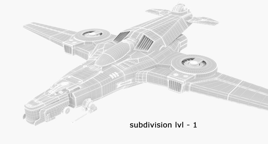 SciFi Fighter royalty-free 3d model - Preview no. 17