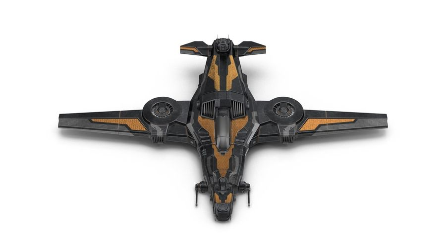 SciFi Fighter royalty-free 3d model - Preview no. 8