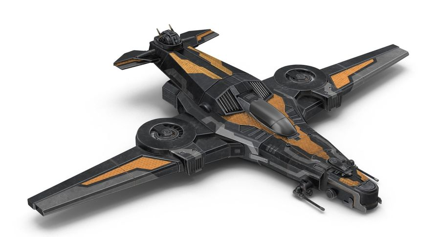 SciFi Fighter royalty-free 3d model - Preview no. 5