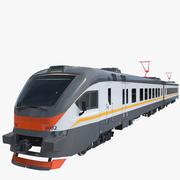 Trem de passageiros EP2D 3d model