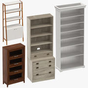 Bookcases Collection 3d model