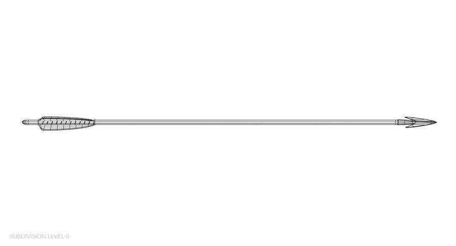 Pil och båge royalty-free 3d model - Preview no. 30